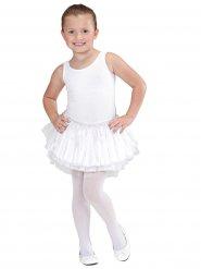 Jupe tutu blanc ballerine fille