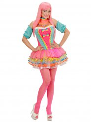 Déguisement clown femme pastel