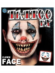 Tatouages clown terrifiant Halloween