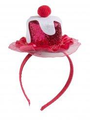 Serre-tête cupcake rose