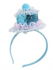 Serre tête cup cake femme bleu