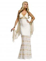Déguisement de déesse grecque blanc-doré pour femmes