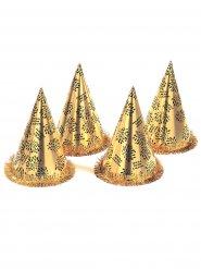 Chapeau pointu doré Nouvel an