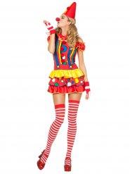 Déguisement clown arlequin sexy femme
