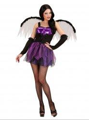 Déguisement ange démoniaque violette sexy femme Halloween