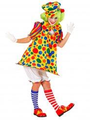Déguisement clown de cirque multicolore femme