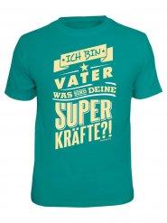 T-shirt ich bin vater turquoise