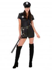 Déguisement officier de police femme sexy noir