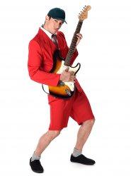 Déguisement vedette rock homme rouge