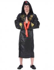 Déguisement samouraï adulte noir et doré