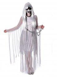 Déguisement de fantôme pour femme blanc Halloween