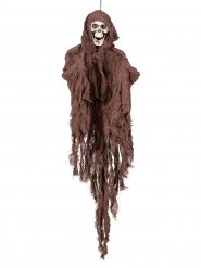 Décoration squelette marron Halloween 90 cm