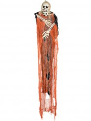 Faucheuse squelette orange Halloween  112 cm