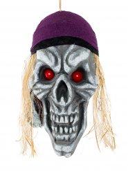 Décoration crâne pirate terreur des mers 42 x 22 cm