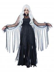 Déguisement fantôme élégant Halloween femme noir