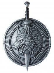 Glaive et bouclier de guerrier au loup adulte