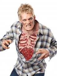 Poitrine de zombie en latex Halloween