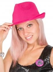Chapeau enterrement de vie de jeune fille rose et blanc