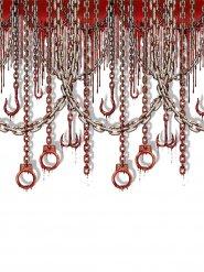 Décoration murale crochets ensanglantés 9,1 x 1,2 m