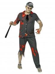 Déguisement zombie policier homme gris Halloween