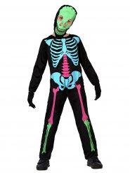 Déguisement squelette multicolore enfant Halloween