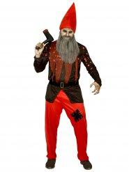 Déguisement nain de jardin terrifiant homme Halloween