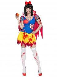 Déguisement de Blanche-Neige Zombie pour femme jaune, bleu et rouge Halloween