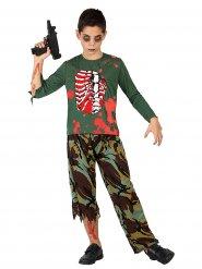 Déguisement Halloween Soldat zombie pour enfant