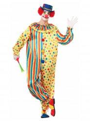 Déguisement homme clown multicolore DE