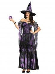 Déguisement de sorcière violet pour femmes Halloween