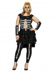 Déguisement squelette Dia de los muertos femme Halloween