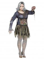 Déguisement zombie grande taille femme halloween