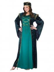 Déguisement dame médiévale femme vert