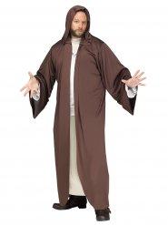 Robe cape encapuchonnée marron