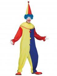 Déguisement clown homme jaune