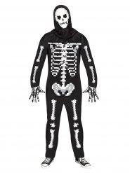Déguisement squelette pixelisé Halloween adulte