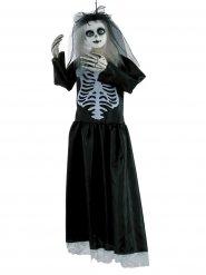 Poupée squelette veuve Halloween 91cm noir