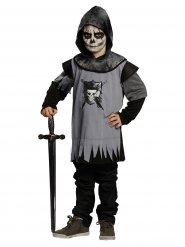 Déguisement chevalier gothique noir gris enfant