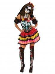 Déguisement Dia de los muertos multicolore Halloween