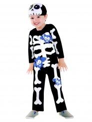 Déguisement squelette chauves-souris violettes enfant Halloween