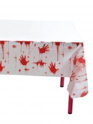 Nappe empreintes sanglantes Halloween