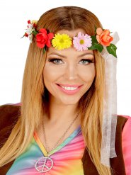 Bandeau de fleurs hippie