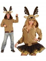 Veste avec capuche renne marron