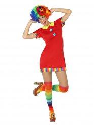 Déguisement clown adorable cirque femme rouge