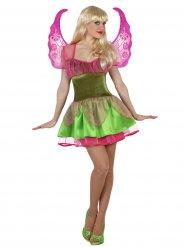 Déguisement fée magique femme vert et rose