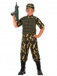Déguisement soldat camouflage kaki enfant