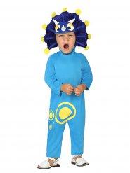 Déguisement dinosaure bleu rigolo enfant