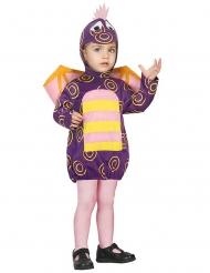 Déguisement petit dragon enfant violet