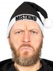 Funny Christmas Hat MISTKIND Santa Hat black-white