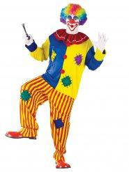 Déguisement clown pour homme multicolore grande taille